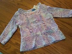 New The Childrens Place Girls Spring Purple Velour Top 6- 9M 18M NWT Everyday #TheChildrensPlace #Everyday