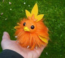 Tiny Torchic - handmade Pokemon Artdoll by Ganjamira/---very cute, want one