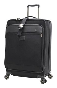 Andiamo Luggage 'Avanti Collection' Auto Expand Wheeled Suitcase with Garment Bag (28 Inch)