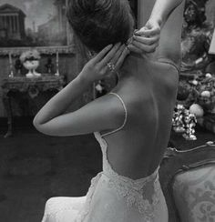 A classic Backless elegant gown