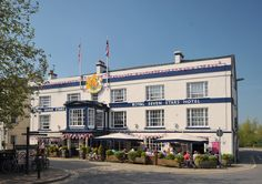 Front of Hotel (with bunting)