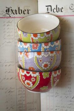 Cute bohemian bowls!