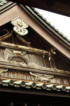 The detail of the roof at Soji-ji temple, Yokohama, Japan