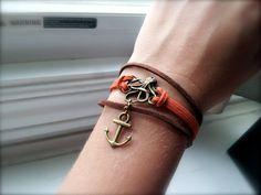 Nautical Antique Bronze Octopus Bracelet with Anchor and by dgowin, $25.00