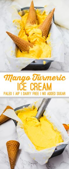 No Churn Mango Turmeric Ice Cream (Dairy-free, Paleo, AIP) - Unbound Wellness