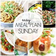 Easy Meal Plan Sunday {Week 46} six meals, breakfast and two desserts making it one delicious week.