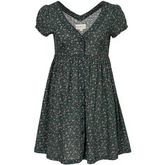 Denim & Supply Ralph Lauren Button Front Dress (915 GTQ) ❤ liked on Polyvore featuring dresses, patterned, womens-fashion, tall dresses, button up front dress, button dress, button down front dress and short sleeve v neck dress