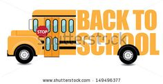 Back to School Bus. EPS 10 vector, grouped for easy editing. No open shapes or paths. - stock vector