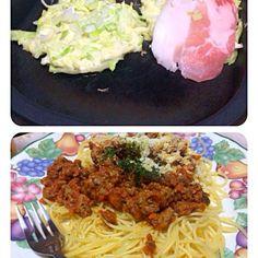 食べ過ぎかな〜(^O^) - 11件のもぐもぐ - 今夜は、お好み焼き・ミートソース by happy3