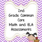 """This 452 page CCSS packet contains assessments for every one of the 2nd grade Math and ELA common core standards. Full color standard posters, """"I can"""" student mini posters, tracking sheets and more."""