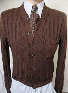 1930s German Knit Jacket Cardigan Jumper Sweater Coat 40s Vintage  30er Strick