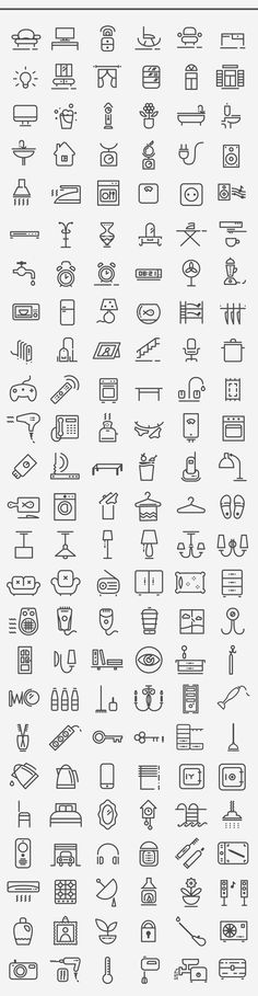 Home icon set, 150+150 items on Behance