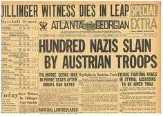 Dillinger Witness Dies in Leap 100 Nazis Slain by Austrians July 27 1934 B16