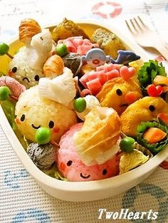 Colorful Hermit crab bento