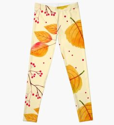 'Autumn Foliage Leaves Dresses' Leggings by proeinstein Autumn Foliage Leaves Leggings