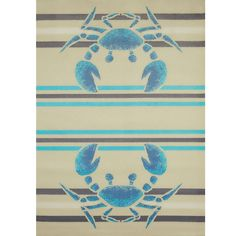 Crab Area Rug | Crabbee Blue | United Weavers
