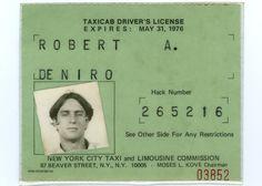 Licence de Taxi de Robert De Niro