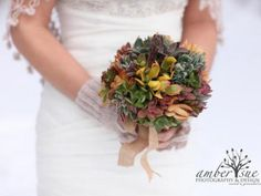 Rainbow Succulent Wedding Bouquet - ships anywhere in the USA for free | Green Bride Guide