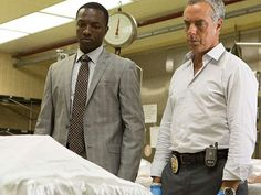 "Titus Welliver, right, is Harry Bosch and Jamie Hector is Jerry Edgar in ""Bosch,"" which is ideally suited to binge-watching. (Amazon Prime)"