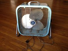 Mid Century Modern Box Fan. $55.00, via Etsy.
