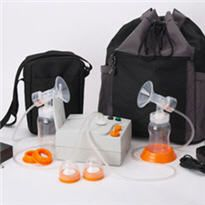 Hygeia EnJoye-LBI Double Electric Breast Pump. Photo and item from breastpumpsdirect.com