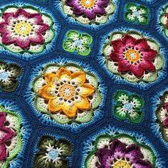 Lotus Moon Tiles (Pattern on Ravelry)
