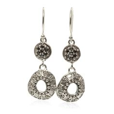 Caviar Collection #esbedesigns #Fall2014   Caviar Drop Earrings Sterling Silver Black #CZ Pavé Double #Earrings. ES352.  #handcrafted #gift #jewelry #designer #esbedesigns