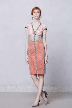Lasercut Springtime Sheath - anthropologie.com