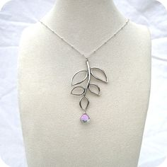 Branch Charm Necklace with Mystic Crystal Quartz