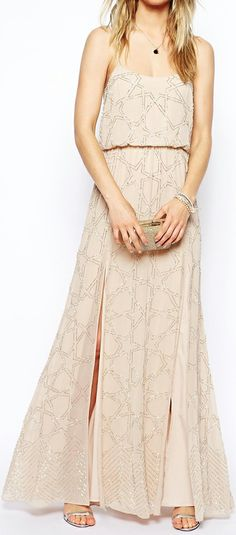 Constellation beaded gown