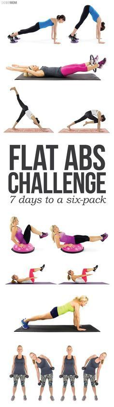 Flat Abs Mini Challenge - Tighten your core in 7 days! #fitnesschallenge #abchallenge #fitness