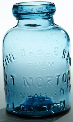 Morton London Salt Jar. c1890s