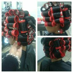 Wet Set, Hot Rollers, Perm Rods, Roller Set, Curlers, Vintage Glamour, Salons, Hair Care, Hair Beauty