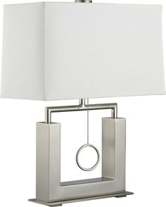 Charles Nickel Table Lamp  | Crate and Barrel