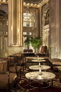 Livingston Restaurant + Bar @ Georgian Terrace Hotel by Puccini Group , via Behance