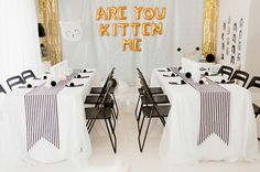 Kitten Birthday Party // I want a party like this. THE cutest party probably ever. Cute Birthday Ideas, Cat Birthday, 2nd Birthday Parties, Kitty Party, Ideas Lindas Para Cumpleaños, Baby Showers, Fete Emma, Cat Themed Parties, Blog Bebe