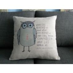 Square Owl Saying Cushion Cover Cushion Cover