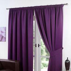Dreamscene–di lusso tende plissettate oscuranti termici, Poliestere, Viola Prugna, 229x 137 cm