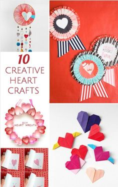 10 Creative Heart Crafts for Kids.