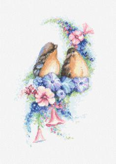 na F - grupa:,Haft krzyżykowy-wzory-konwertowanie obrazów, Haft krzyzykowy wzory, Schematy, wzory, pomysły.., Krzyzykowanie tamborkiem i nie tylko  w plikach jako Romantyczne ptaszki 1 i 2