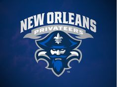 New Orleans Privateers Alternate Logo on Chris Creamer's Sports Logos Page - SportsLogos. A virtual museum of sports logos, uniforms and historical items. Logo Branding, Branding Design, Sports Team Logos, Education Logo, American Sports, Great Logos, Game Logo, Logo Sticker, Cool Logo