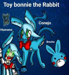 Toy bonnie the Rabbit de fnaf polé bear