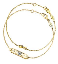 A Mother's love is eternal. Commemorate Mother's Day with a beautiful Gabriel & Co. Yellow Gold Tennis Bracelet.