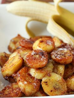 Pan Fried Cinnamon Bananas ~ Only three ingredients and a couple of hours to freeze these babies and one of the most incredible 3-ingredient desserts is done!