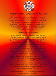 History of the cross. #Firefighting