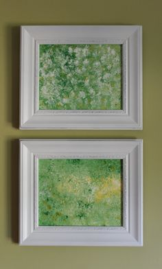 He Loves Me I & II Shabby Chic Original Abstract by lotsahappy, on Etsy SOLD