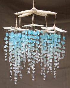 Sea Glass & Starfish Mobile - Colossal Ombre Chandelier - Default Title