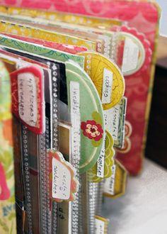 Crate Paper Houses & A Recipe Album – Scrapbooking İdeas For İdeas. Mini Albums, Mini Scrapbook Albums, Scrapbook Pages, Scrapbook Recipe Book, Scrapbooking Ideas, Smash Book, Do It Yourself Organization, Recipe Binders, Recipe Organization