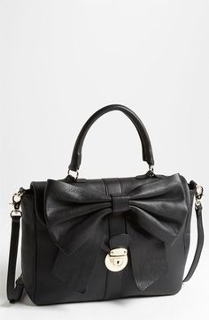 RED Valentino 'Bow' Top Handle Leather Satchel | Nordstrom