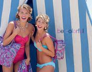 I love everything about this ad. the vera bradley (boysenberry, my fave), the hair, the makeup, the bathing suits. just everything <3